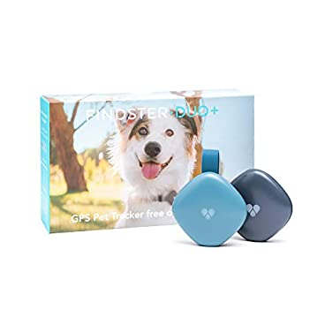 Findster Duo+ Pet Tracker Free of Monthly Fees – GPS Tracking Collar for Dogs and Cats & Pet Activity Monitor