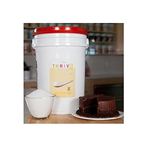 4,536 Total Servings of White Sugar - 40 Lb. Pail Emergency Food Pail with Gamma Seal By Shelf Reliance® Thrive TM2 Cents Per Serving Product of USA by Shelf Reliance