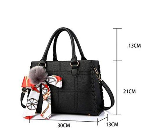 Frauen-Beutel Neues Paket Europa Und Die Staat-Schulterbeutel Kurierbeutel PU-Handtasche Darkgray