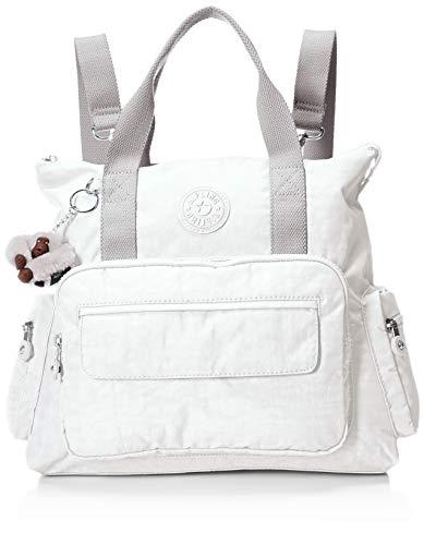 Convertible Schulter Tasche (Kipling Damen 1 Convertible Tote Bag Backpack, Zip Closure Alvy 2-in-1 Wandelbare Tragetasche Rucksack, Wear 2 Ways, Reißverschluss, Alabaster Tonal, Einheitsgröße)