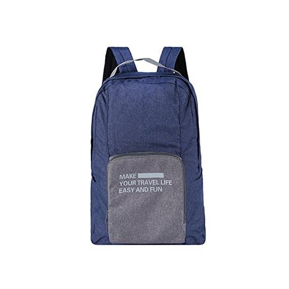 Generic Folding Travel Storage Backpack Suitcase Organizer Polyester Bag Color: Navy