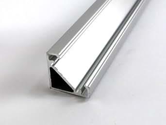 Profilo angolare in alluminio 2mt pr3 per strisce led 17 1mm illuminazione - Strisce a led per interni ...