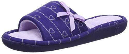 isotoner-isotoner-heart-patten-open-toe-slipper-chaussons-mules-mules-femme-blue-navy-lilac-39-uk-6