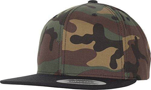 Flexfit Classic Snapback 2-Tone Cap, Green Camo/Black, one Size Camo Flex Cap