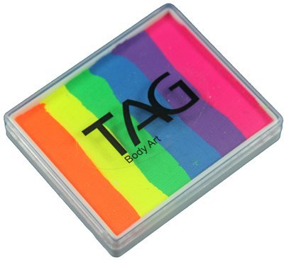 TAG Split Cakes - Neon Rainbow (50 gm) by TAG Body Art