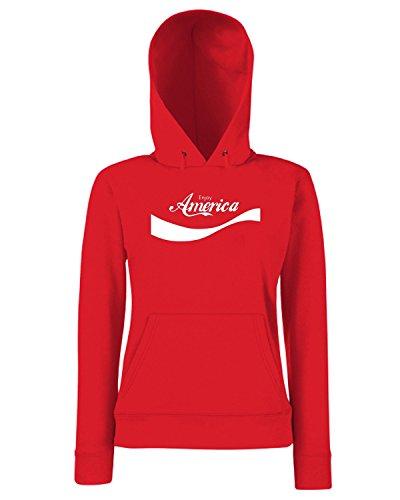 T-Shirtshock - Sweats a capuche Femme ENJOY0012 Enjoy America Rouge