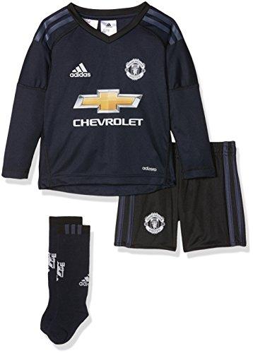 Adidas MUFC H Gk Mini Conjunto 1ª Equipación Portero Manchester United FC, Unisex niños, Azul (Tinley/azutra / grpulg), 98 (2/3 años)