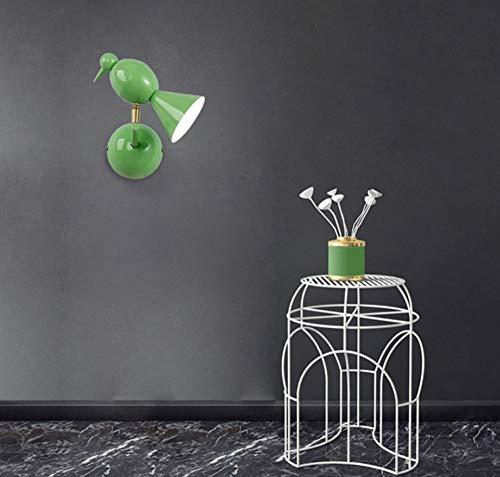 Kreative moderne grüne Vogel-Wand-Lampen-Befestigungen für Schlafzimmer-Nachtarbeitszimmer-Ausgangsbeleuchtung - Quadratische Metall-wand-lampe