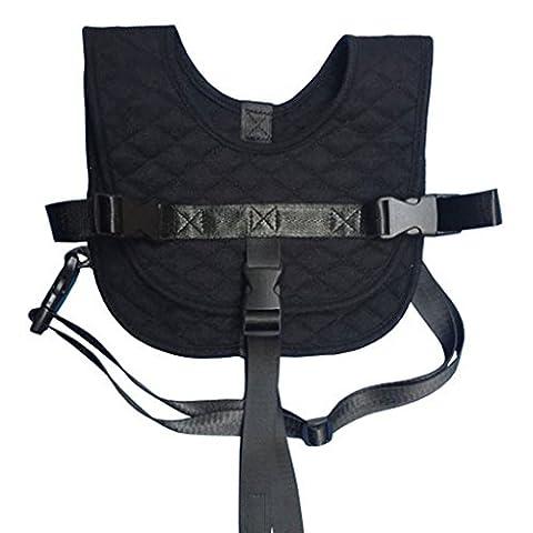 Vine Flugzeug Zug Stuhl Sicherheitsgurt Vest Dual-Use für Baby-0,5-2 Jahre(Schwarz)