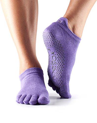 Damen 1 Paar ToeSox Low Rise Ganz Toe Organic Cotton Socken Light Purple 3-5.5