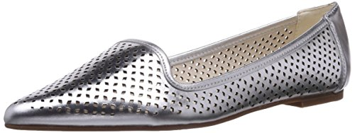 Buffalo London 214-3560 TALCO LEATHER, Damen Geschlossene Ballerinas, Silber (SILVER), 40 EU