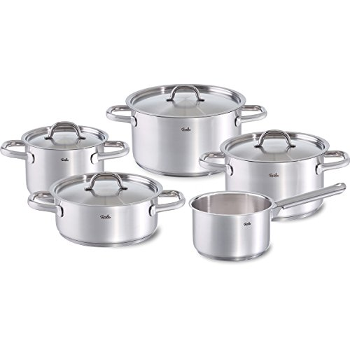 Fissler Family Line with Metal Lid, Stainless Steel, Set of 5