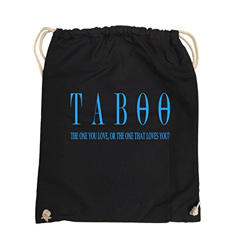 Comedy Bags - TABOO - LOGO2 - Turnbeutel - 37x46cm - Farbe: Schwarz / Silber Schwarz / Blau