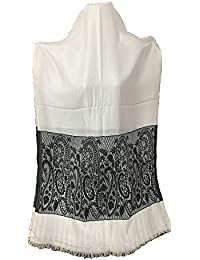 Very Beautiful Black And White Stole