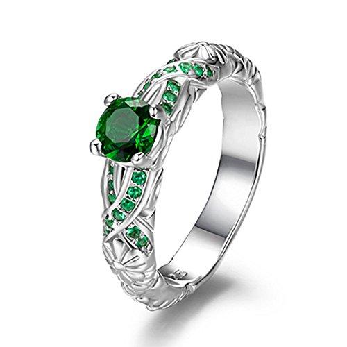 Harry Potter Serpeverde Anello Verde anello di cristallo 8