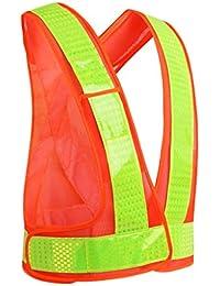 Cinturón Reflectante de Alto Brillo Reflectante de Seguridad Seguridad para la Espalda Reflectante (Color :