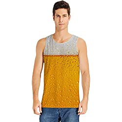 Loveternal Hombre Chaleco Camiseta Cerveza 3D Impreso Casual Cool Camiseta sin Mangas XXL
