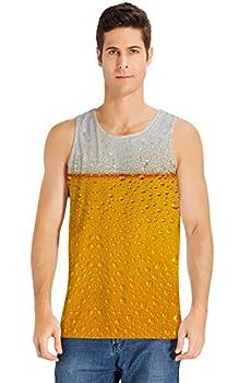 c1b965c3b2568 Loveternal Mens 3D Digital Printed Tank Top Summer Casual Vest T-shirt