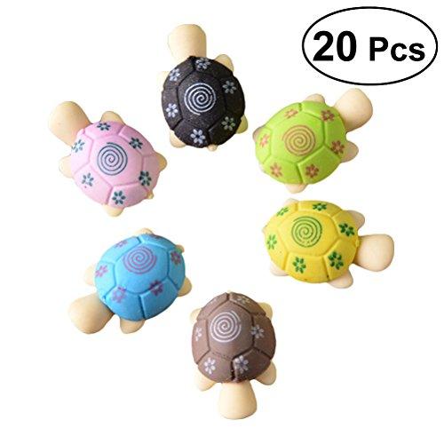 YEAHIBABY Schildkröte Form Radiergummi Nette Kreative Bleistift Radiergummis Geschenk für Kinder Studenten, 20 stücke (Zufällige Farbe)