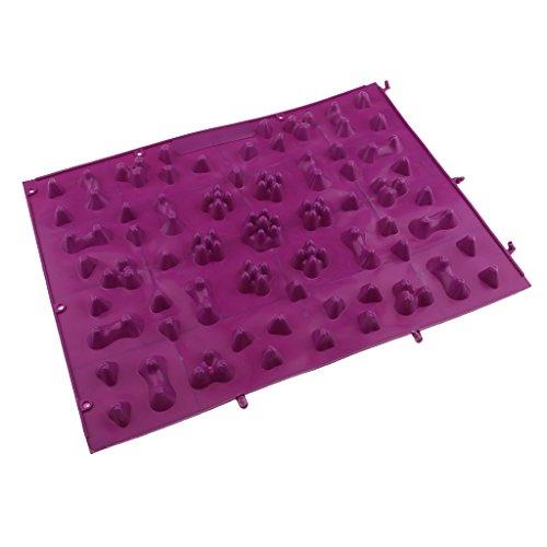 Fußreflexzonenmatte Fußmassagematte Badezimmer Fußmatte Spielzimmer Dekoration Fußreflexzonen Matte - Lila