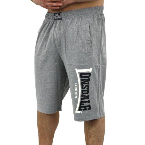 Lonsdale -  Pantaloncini sportivi  - Uomo grigio Grey Marl