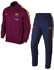 Nike Fcb Rev Wvn Tracksuit - Chaqueta Fútbol Club Barcelona 2015/2016 para hombre, color rojo / dorado, talla XL