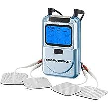 Aparato electroestimulador TENS STIM-PRO Comfort (2 canales, 9 programas) Uso sencillo