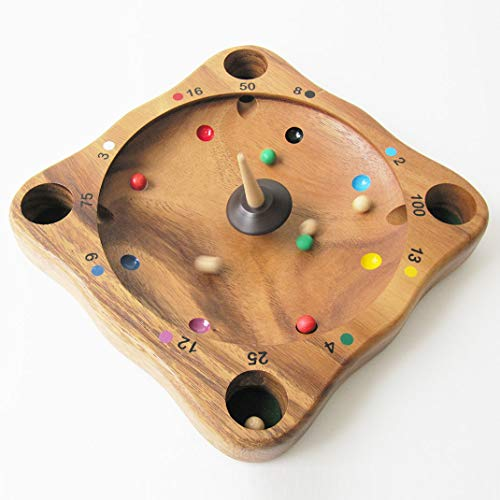 ROULETTE FOLLE - jeu éducatif avec toupie à partir de 5 ans en bois massif. Aux normes CE, marque française le Délirant. Idéal pour le calcul mental. La Giroulette, la roulette tyrolienne, le Virolon