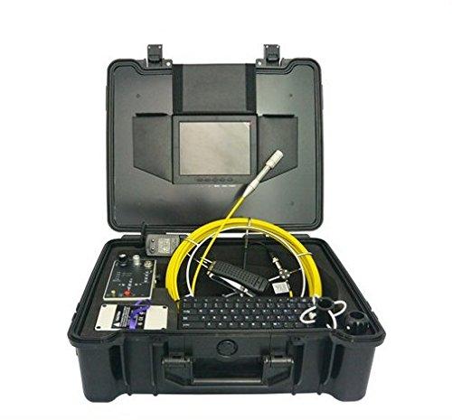 GOWE Transmisor de 512 Hz para agua y chimenea, 20 m, cámara de inspección de cable de fibra de alcance, tamaño: 1/4', Resolución horizontal: 420TVL; Sistema de señal: PAL