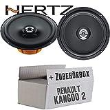 Hertz DCX 165.3-16cm Koax Lautsprecher - Einbauset für Renault Kangoo 2 Front - JUST SOUND best choice for caraudio