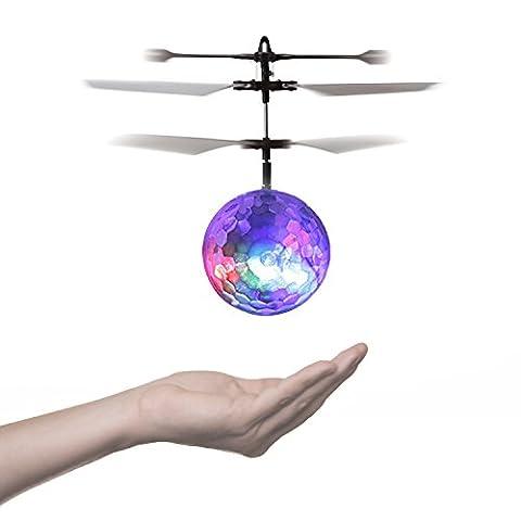YKS Hélicoptère Drone Boule Volante RC Jouet Aile Infrarouge Éclairage