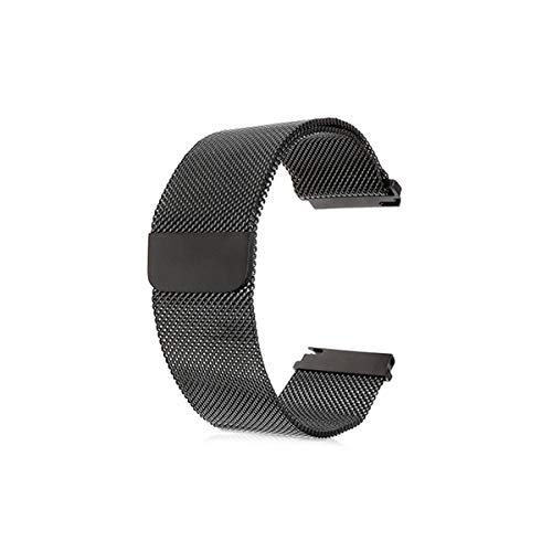 kwmobile Bracelet de Montre Compatible avec Moto 360 2 / ASUS Zenwatch 2 - Bracelet de Remplacement pour Smartwatch en INOX - Noir