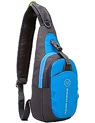 Shubb - mochila multifuncional, frontal, de pecho, impermeable, color azul, tamaño talla única