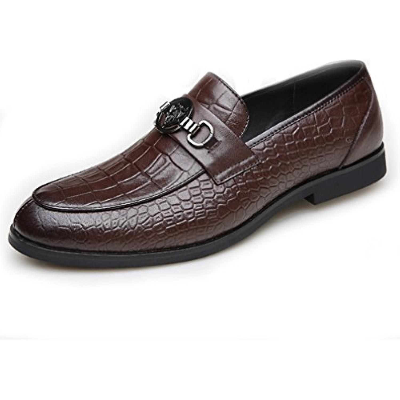Hommes Chaussures en Cuir Souple Souliers Faux Cuir eacute;tallique de Serpent M eacute;tallique Cuir Bout Pointu Talon Bloc L eacute;ger - B076GYMNWX - e7d1f4