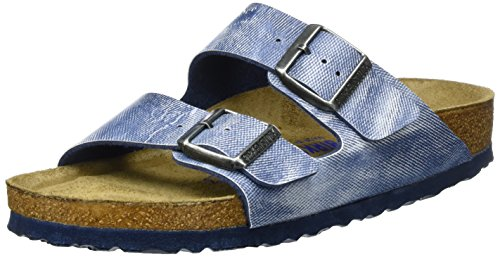 Birkenstock Arizona Birko-Flor Softfootbed, Mules Mixte Adulte Blau (Used JEANS BLUE)