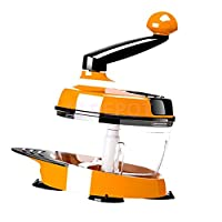 ELECTROPRIME Manual Food Processor Vegetable Chopper Meat Grinder Mixer Blender Orange