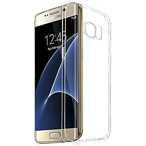 LONVIPI® Samsung Galaxy S7 Edge Funda Cubierta de Silicona de ultra delgado de TPU estuche Silicona Carcasa Trasera Para Samsung Galaxy S7 Edge Transparente
