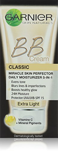 Garnier Classic Miracle Skin Perfector BB Cream, Extra Light with SPF 15 50 ml