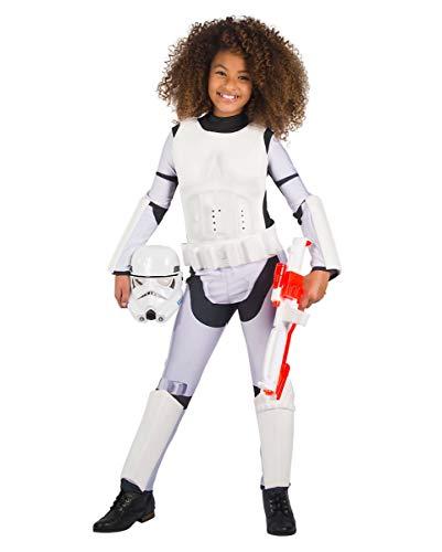 Horror-Shop Original Star Wars Stormtrooper Kinderkostüm für Mädchen L