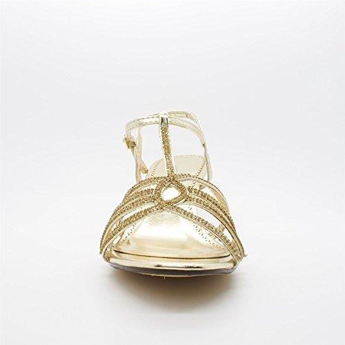 Alla Oro Oro Cinturino Caviglia Donna Londra Calzature wUqC8P