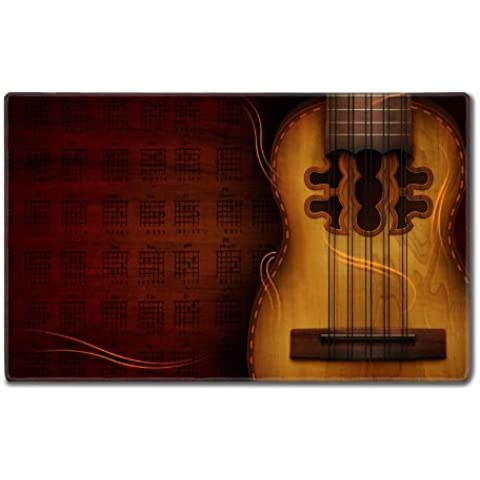 American Instruments Acoustic Guitars Notes Table Mats Customized Made to Order Support Ready 24 Inch (610mm) X 14 15/16 Inch (380mm) X 1/8 Inch (4mm) High Quality Eco Friendly Cloth with Neoprene Rubber MSD Deskmat Desktop Mousepad Laptop Mousepads Comfortable Computer Place Play Mat Cute Gaming Mouse pads