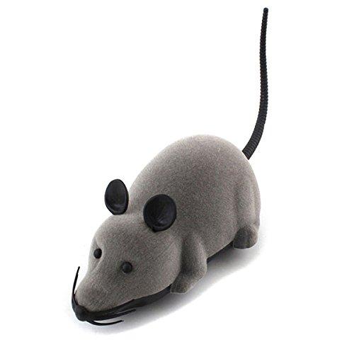 SODIAL Topo telecomandato elettronico senza fili del topo del ratto di telecomando per il giocattolo divertente dell'animale domestico del cane del gatto
