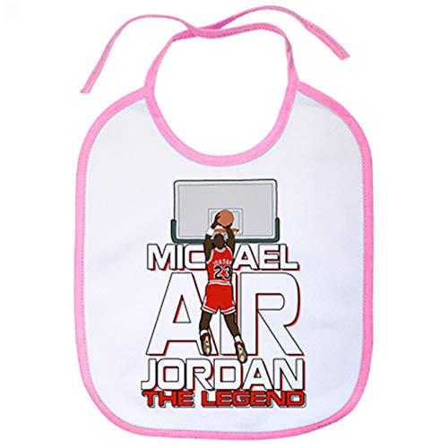 Babero Michael Air Jordan The Legend leyenda de baloncesto - Rosa