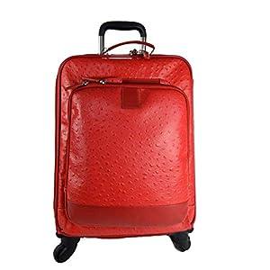 Leder reisekoffer troller rot leder reisetasche manner damen mit griff leder tasche reise tasche sporttasche mit 4 rollen pilot tasche