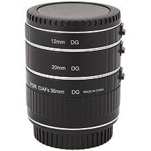 Tubo de extensión automático Macro para Canon - tres tubos pieza - 13mm, 21mm, 36mm para Canon EOS 1000D 1100D 600D 550D 500D 450D 400D 350D 300D 60D 50D 40D 30D 20D 10D 7D 5D 5D Mk II 1D 1Ds 1D Mk II 1Ds Mk II 1D Mk II N 1D Mk III 1Ds Mk III etc.