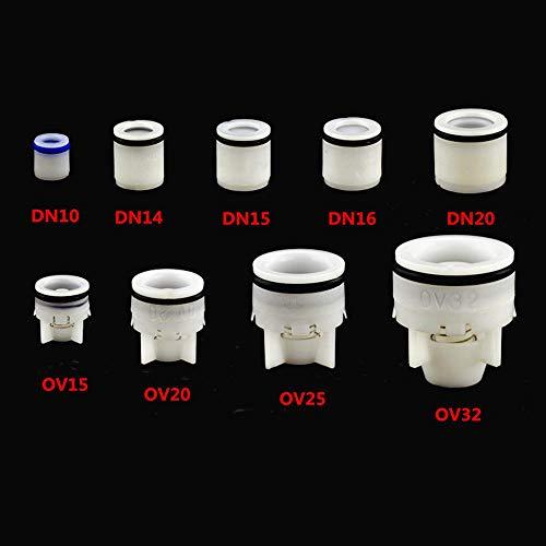 SAOJI 1Pcs Controllo della Molla della valvola antiriflusso in plastica Plug-in per 10-32mm Acquario Giardino Irrigazione Valvola del contatore dell'Acqua Anti gocciolamento, DN 14