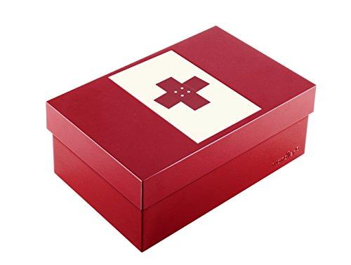 Wandler by Infinity Boxes Boxen-Set 3-TLG, Magnet Kreuz + Metallbox, klein, rechteckig, rot
