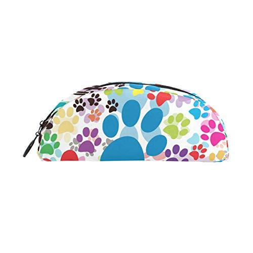 TIZORAX Federmäppchen für Katzen, Hunde, Pfoten, Fußabdrücke, Stifteetui, Kosmetiktasche, für Teenager, Mädchen, Jungen, Kinder