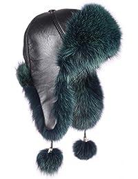 Pelo-Gorro de zorro piel Gorro de aviador Invierno Gorro Gorro de esquí Fox  usch c97e3904c61