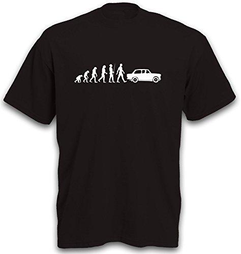 T-Shirt Evolution Trabi DDR Rennpappe Yountimer Motiv tshirt b&c S-XXL Schwarz